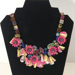 NWT J. Crew Crystal and Floral Statement Necklace
